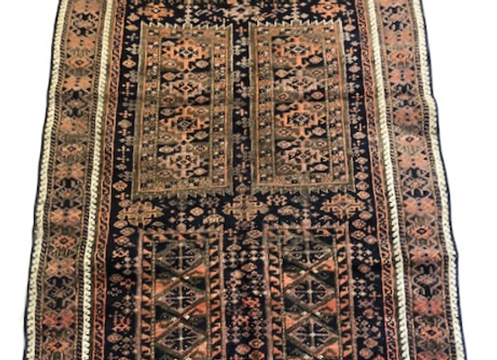 Vintage Tribal Beluch Carpet