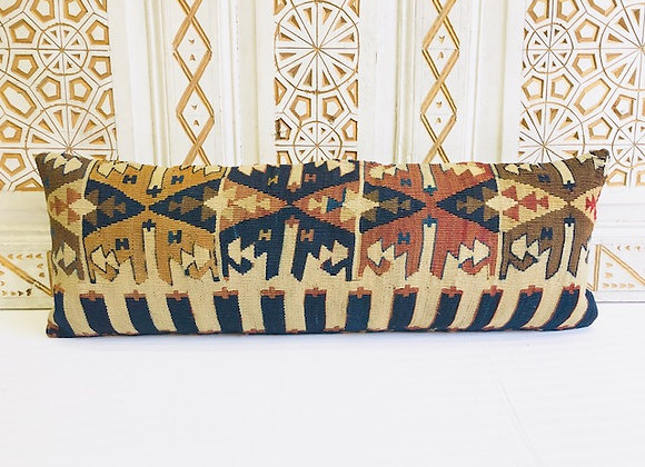 Boho Turkish Kilim Cushion - Long Lumber / 90x30 cm