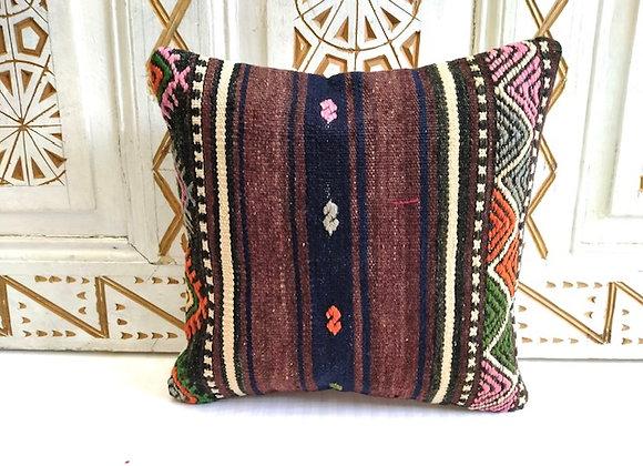 Vintage Kilim Throw Pillow - Boho earth