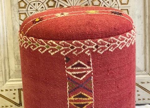 Vintage Kilim Pouf - Striped and banded