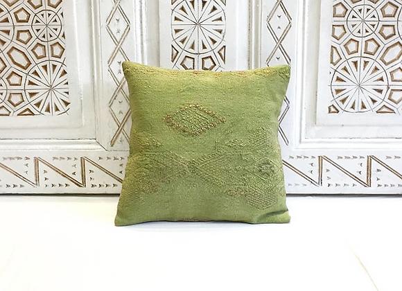 Pistachio 'overdye' Kilim Pillow