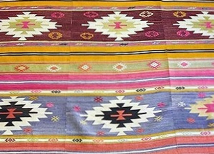 Vintage Turkish Boho Kilim                                        3 panel design
