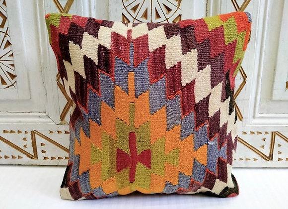 Vintage Kilim Pillow - Anatolian Blaze No 2