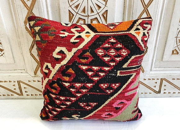 Vintage Turkish Boho Pillow         40x40cm  Anatolian fire