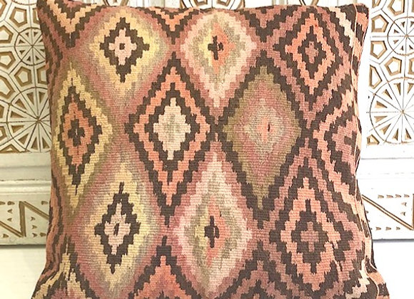 Vintage Kilim Pillow - Pink Earth