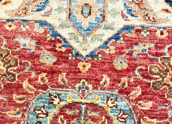 Contemporary Hall Runner - Suzani Rug Collection /Sienna