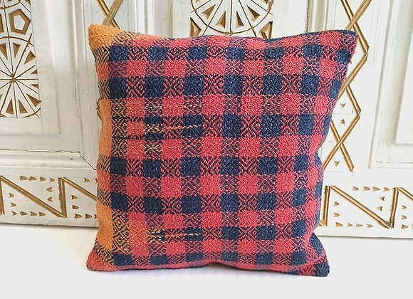 Vintage Turkish Boho Pillow         Plaid 40x40cm