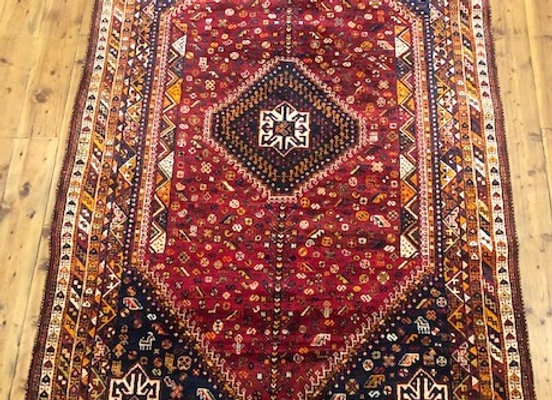 Antique Tribal Qhasqai Shiraz Rug - Iran