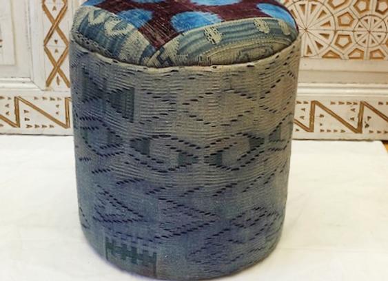 Design Anatolia Vintage Kilim & Ikat Pouf