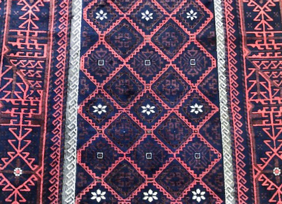 Antique Beluch Rug                                   Rare Borders