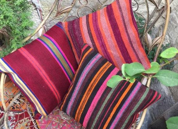 Vintage Turkish Pillow - Summer Stripes
