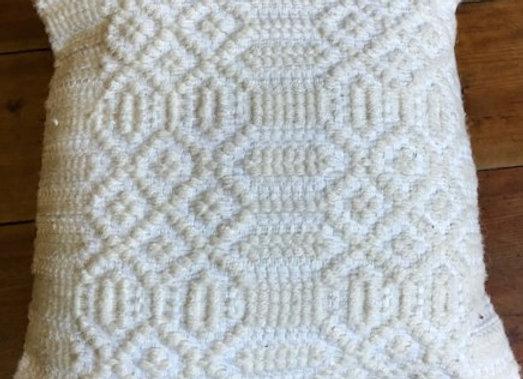 Vintage Kilim Pillow - Textured Cream