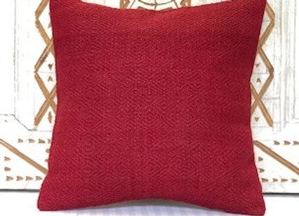Vintage Turkish Kilim Cushion - Crimson Red  Size: 40 x 40 cm