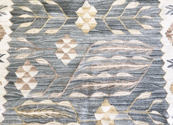 New Natural Dyed Kilim - Smoke + greens