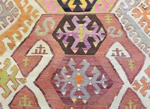 Vintage Konya    'Goddess' Kilim
