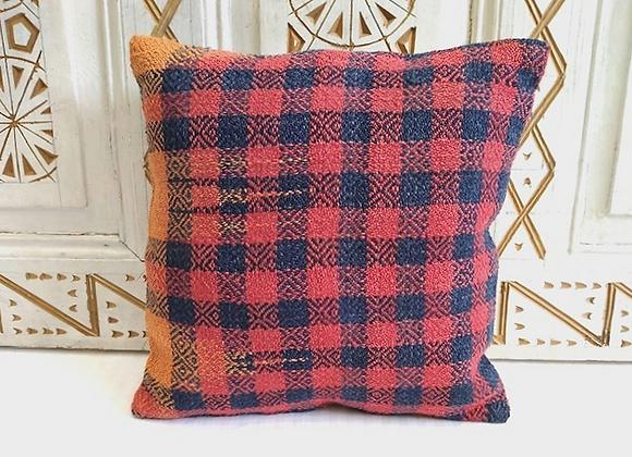 Vintage Turkish Boho Pillow         Plaid 40x40cm