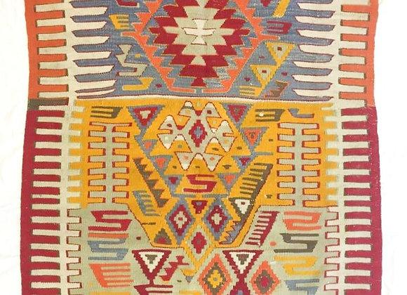 Vintage Dowry Kilim                                              Indigo & Safron