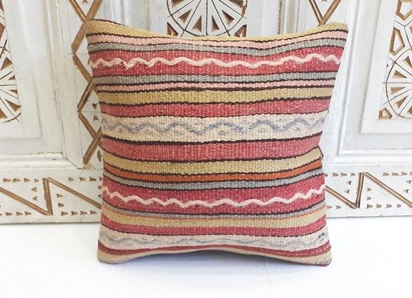 Vintage Kilim Pillow -Mixed stripe