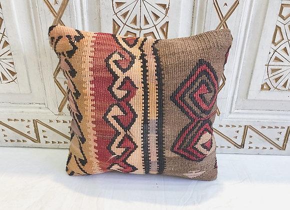 Vintage Turkish Boho Pillow         40x40cm - Cinnamon  Storm