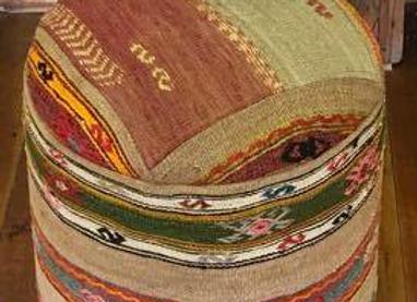 Design Anatolia Vintage Kilim Pouf