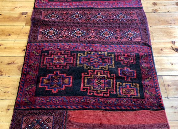 Vintage Bahtiyari Open Camel Bag