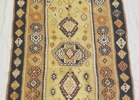 Vintage Malatya Kurdish Kilim  -  With silver thread
