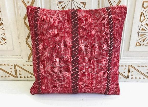 Vintage Turkish Boho Pillow         40x40cm Red weave