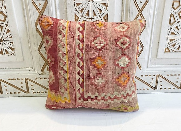 Vintage Turkish Boho Pillow         40x40cm      Anatolian Blush