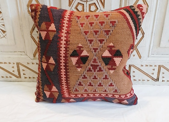 Vintage Kilim Pillow                               40x40cm       Cinnamon & Navy