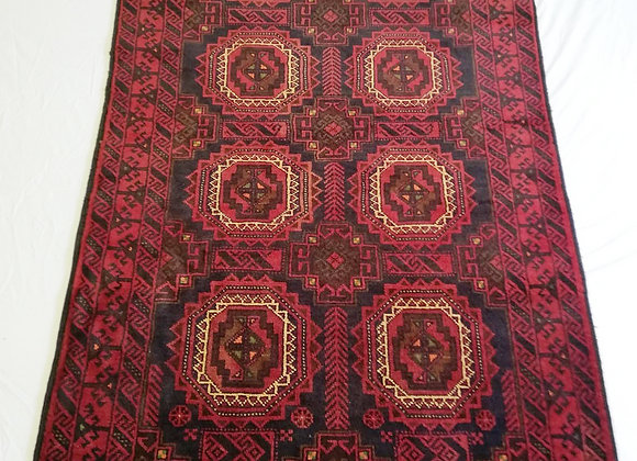 Vintage Afghan Dowry Rug