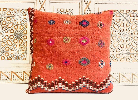 Vintage Turkish Kilim Pillow - Large 65x65 cm