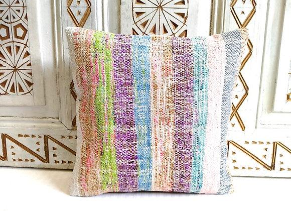 Vintage Kilim Pillow -Pastel stripe