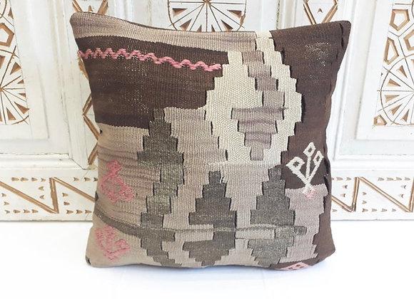 Vintage Kilim Pillow -40x40cm Boho Cloud