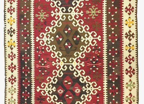 Vintage Kayseri Nomadic Kilim                                          Red Earth