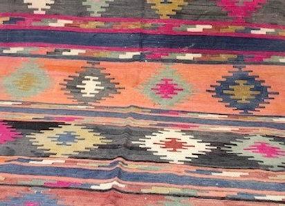 Vintage Afyon Tribal Kilim -Unique colors