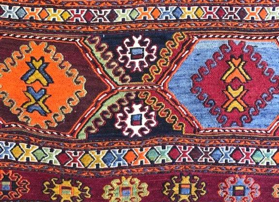 Vintage Tribal Soumak Kıilim - Iran