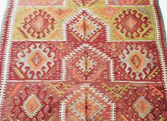 Vintage Tribal Turkish Kilim - Fine with beautiful colors