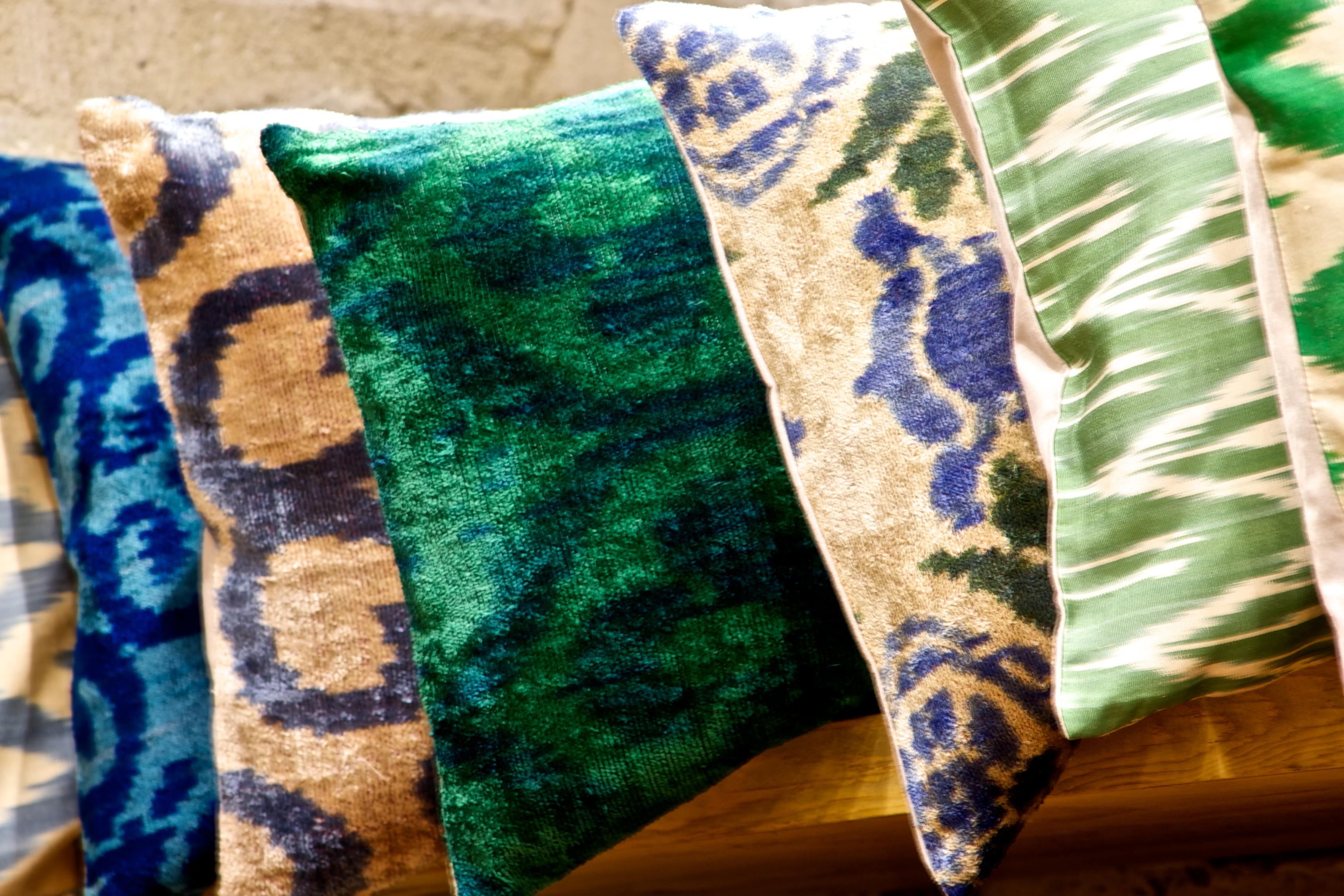 Velvet- Ikat- Cushions-throw pillows