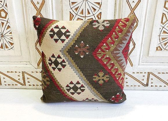 Vintage Turkish Boho Pillow         40x40cm Anatolian storm