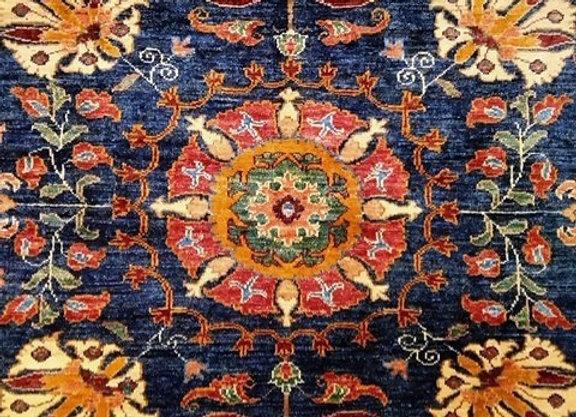 Suzani Design Carpet - 100% Natural Dyes/ Navy