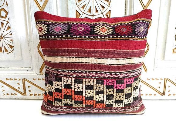 Turkish Kilim Throw Pillow - Textured Nomad