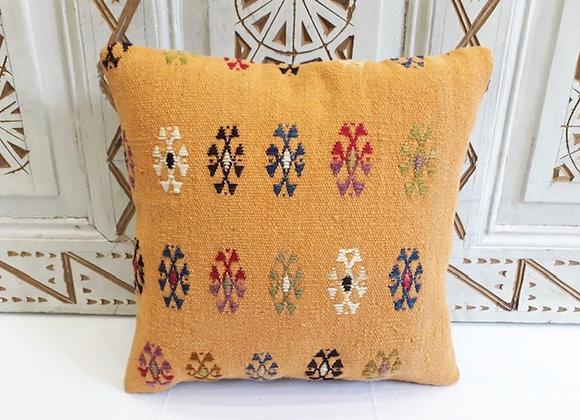 Vintage Turkish Kilim Pillow - 40 x 40 Apricot sun