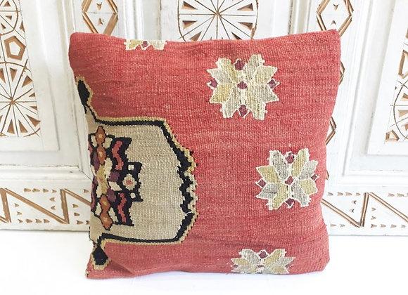 Vintage Kilim Pillow -40x40cm Blush asymmetric