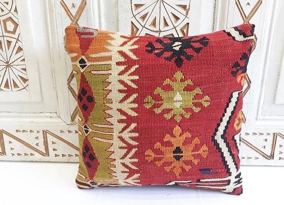 Vintage Kilim Pillow -40x40cm Anatolian plateaux