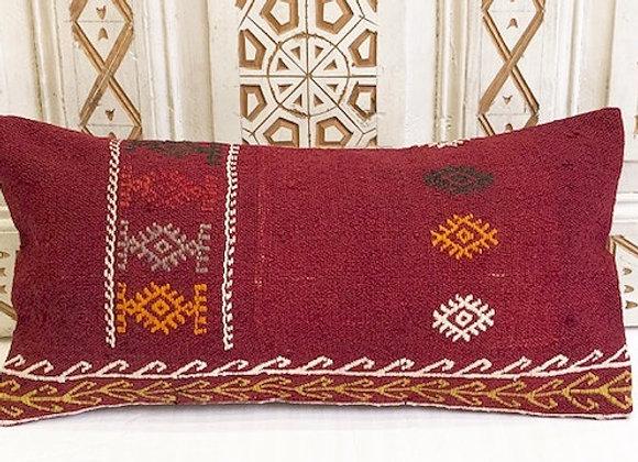 Vintage Kilim Pillow - Small lumbar 60 x 30cm