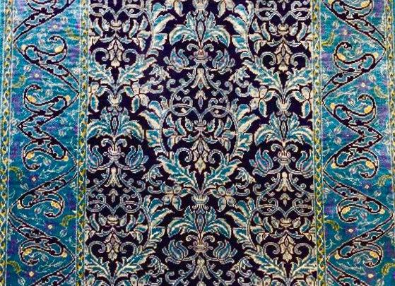 Kayseri Pure Silk Carpet - 100 handmade. Ottoman design