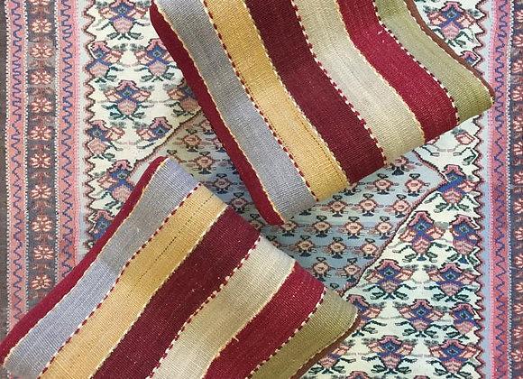 Vintage Kilim Teahouse Stool                                       Datca Stripe