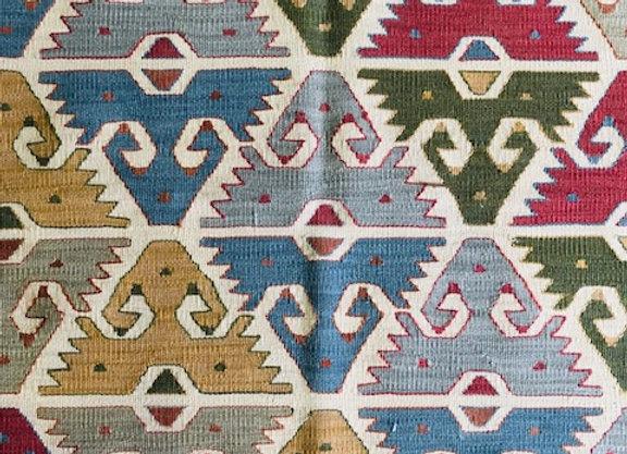 New Fine Natural Dyed Kilim - Goddess design