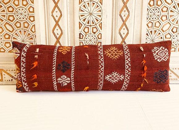 Turkish Kilim Cushion - Long Lumber / Nomadic Rust 90x30cm