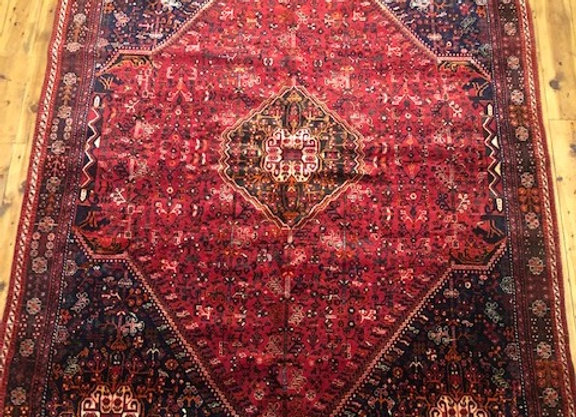 Vintage Tribal Shiraz Carpet - Iran